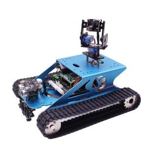 Pi Tank Smart DIY Programming Robot Toy Kit WiFi Wireless VideoCompatible RPI 3B/3B+(Without Raspberry Pi)